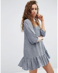 d.RA Lyon Dress With Drop Hem - Grey