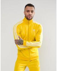 adidas Originals - Adicolor Beckenbauer Track Jacket In Yellow Cw1254 - Lyst