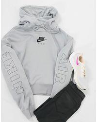 Nike Training - JDI - Felpa con cappuccio grigia - Grigio