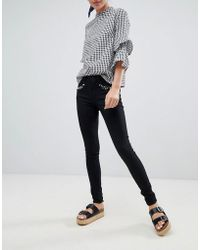 ONLY - Royal Pearl Embellished Skinny Jeans - Lyst