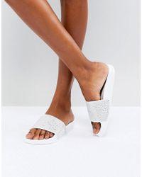 Slydes Dimante Slider Sandal - White