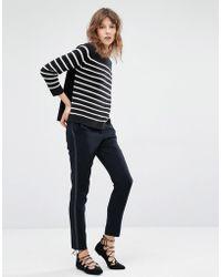 Suncoo - Jane Cigarette Pants With Tux Stripe - Lyst