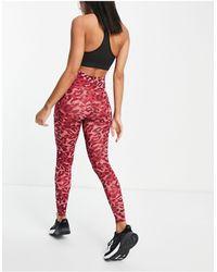 adidas Originals Розовые Леггинсы С Камуфляжным Принтом Adidas Training-розовый Цвет