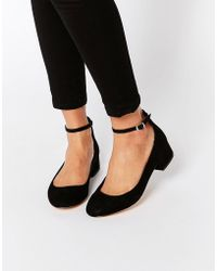 Blink | Ankle Strap Low Heeled Ballerina Shoes | Lyst