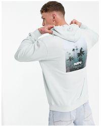 Mennace – oversize-kapuzenpullover - Grau