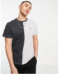 Threadbare T-shirt combinata grigia - Nero