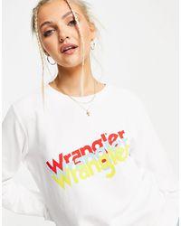 Wrangler Multi Logo Crewneck Sweatshirt - White