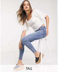 Stradivarius Tall Super High Waist Skinny Jeans - Blue