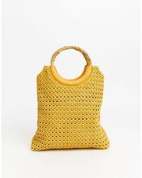 Oasis Woven Tote Bag - Yellow
