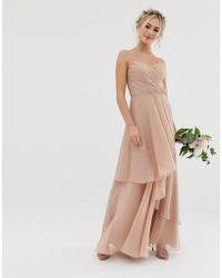 ASOS - Bridesmaid Maxi Bandeau Dress With Soft Layered Skirt - Lyst