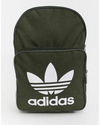 adidas Originals - Trefoil Backpack In Khaki - Lyst