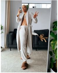 ASOS Co-ord Lounge Dressing Gown - Multicolor