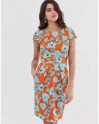 Closet Wardrobe Tulip Tie Back Dress - Orange