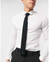 Religion Cravate habillée en maille - Noir