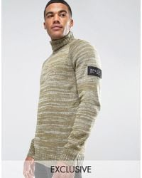Nicce London - Roll Neck Jumper With Arm Patch - Lyst