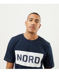 46467c65f298 Moncler Face Nord T-shirt in Blue for Men - Lyst