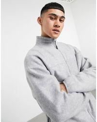 ASOS Серая Меланжевая Куртка Из Теплого Флиса В Стиле Oversized (от Комплекта) - Серый