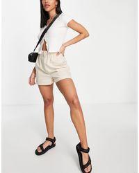 Pimkie Paperbag Shorts - Natural