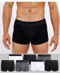 ASOS - Hipsters In Monochrome 7 Pack Save - Lyst