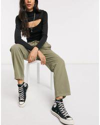 TOPSHOP Pantalon ample - kaki - Vert