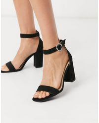 Pimkie Block Heeled Sandals - Black