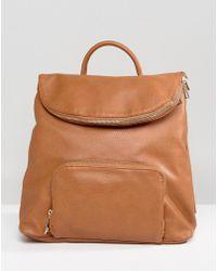 Liquorish - Backpack With Foldover Flap - Lyst
