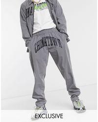 Chinatown Market Arc Reflective Pants - Metallic