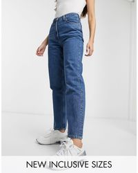 Collusion X006 - Mom jeans stone wash blu scuro