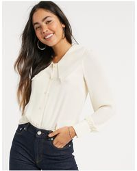 Y.A.S Oversized Collar Blouse-white