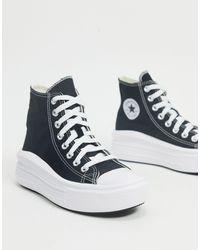 Converse Chuck Taylor - Sneakers alte nere con plateau rialzato - Nero
