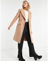 Miss Selfridge Классическое Пальто Коричневого Цвета -коричневый