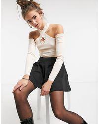 Threadbare Ema - maglione a coste con cut-out - Rosa