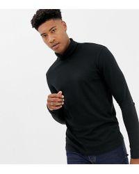 5c7524c6 SELECTED Stripe Grandad Long Sleeve Top in Gray for Men - Lyst