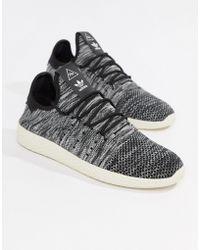 adidas Originals - Pharrell Williams Tennis Hu Trainers In Grey Cq2630 - Lyst