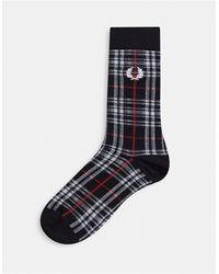 Fred Perry Check Socks - Black