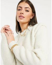 Vero Moda Удлиненный Джемпер Кремового Цвета С Плечевой Вставкой -белый - Естественный