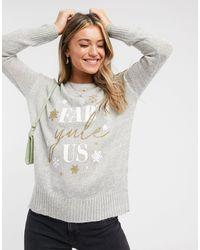 New Look Christmas Jumper - Grey