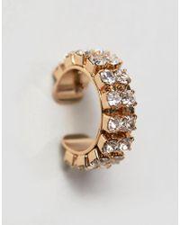 ASOS - Crystal Jewel Ear Cuff - Lyst
