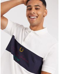Fred Perry Polo à logo archive - Blanc