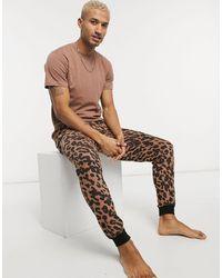 Bolongaro Trevor Pyjama Met Doodshoofd - Bruin