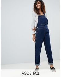 ASOS ASOS DESIGN Tall - Salopette en jean - Brut - Bleu