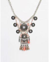 New Look Havana Thread Necklace - Pink