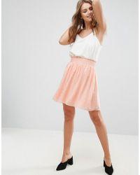 Minimum - Pleated Print Skirt - Lyst