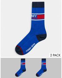 Tommy Hilfiger Tommy Jeans 2 Pack Socks - Blue