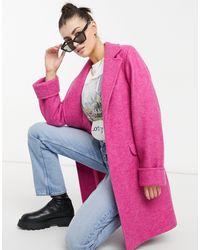 Helene Berman Розовое Короткое Пальто С Поясом -розовый Цвет