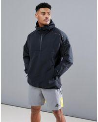 adidas - Anorak nero con cintura CG0249 - Lyst