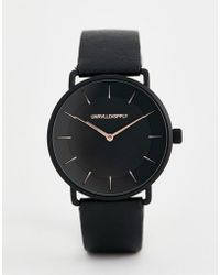 ASOS - Watch In Black With Rose Gold Highlights - Lyst