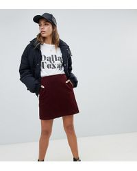 New Look Cord Skirt - Red