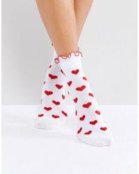 Lazy Oaf Red Heart Socks