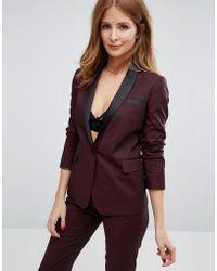 Millie Mackintosh Suit Blazer - Red